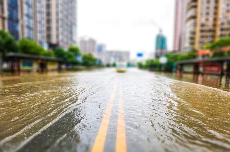 záplava v meste